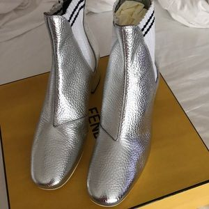 Fendi metallic boots
